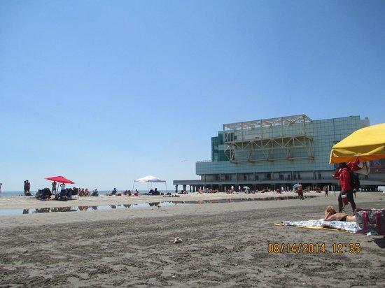 Atlantic City Boardwalk: Black sand
