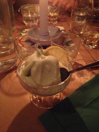 Osteria MEZZALUNA: Sorbetto limone e salvia