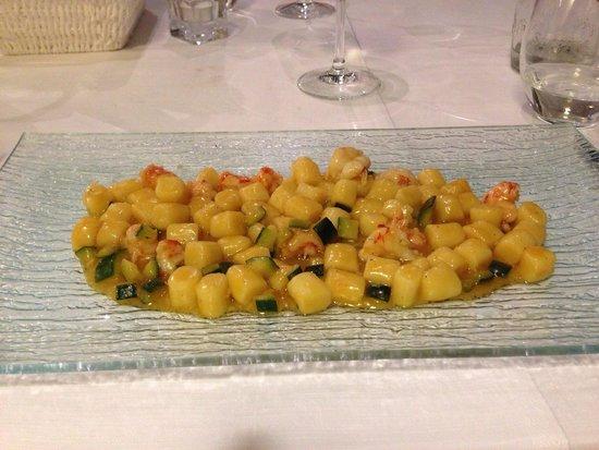 Locanda Ristorante 7 Mari: Gnocchi gamberi e zucchine