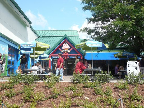 Ben & Jerry's: The patio area outside the factory