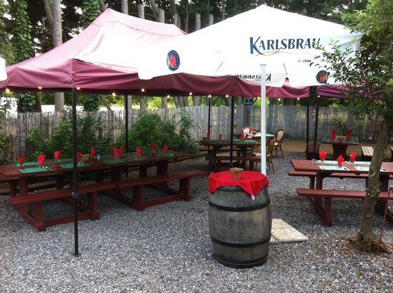 Restaurant Camette : terrasse arriere