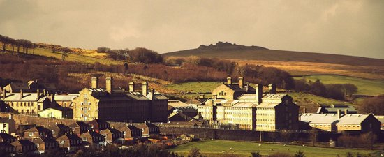 Dartmoor Prison Museum: Dartmoor Prison from Tor Royal Lane