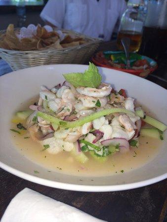 CasaSandra Boutique Hotel: Cebiche de camarón