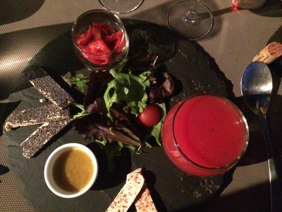U CANTONU : Soupe pastèque vodka piment espelette