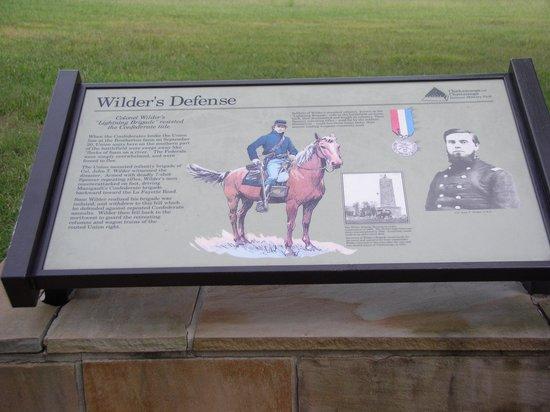 Chickamauga Battlefield: Wilder's Defense