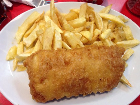 Castle Fish & Chips: Cod & chips