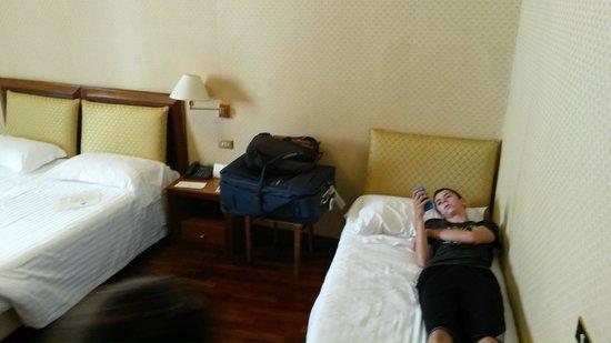 Albergo Cesari: Beds in Quad Room 19