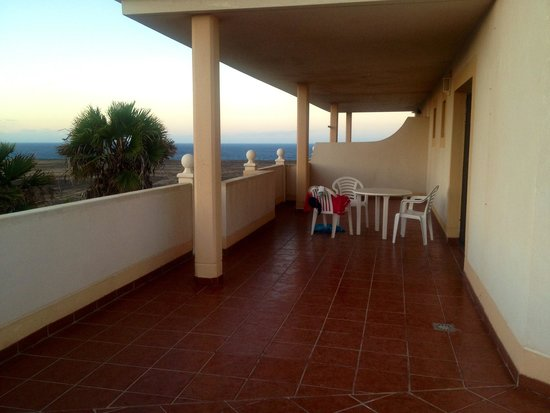 Elba Lucia Sport & Suite Hotel: HALF of our private Terrace!!!! And sea view!
