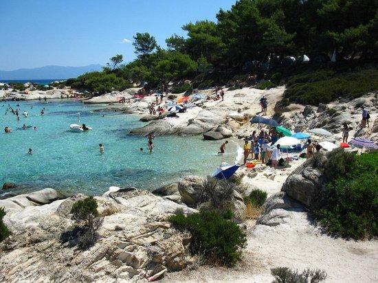 Kavourotrypes Orange Beach Sithonia Greece