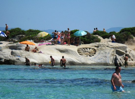 Kavourotrypes Beach Orange Sithonia Greece