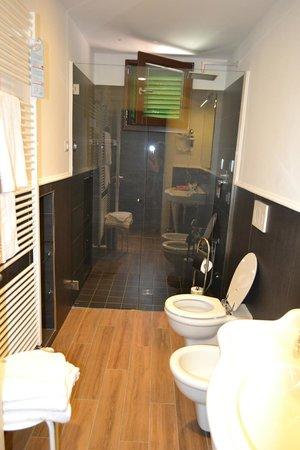 B&B Emozioni Charme: Spacious bathroom with fab shower!