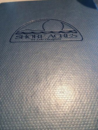 Shore Acres Inn and Restaurant: The menu