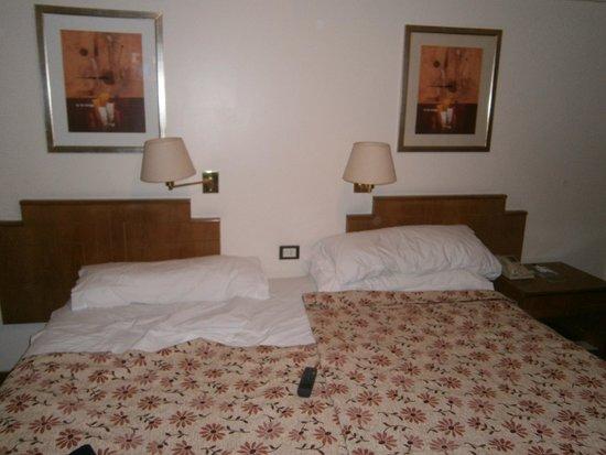 Wilton Hotel: habitacion en cama matrimonial donde iban dos singles