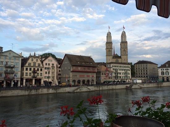 Storchen Zurich : vista dal terrazzo
