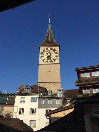 Storchen Zürich: vista dalla camera