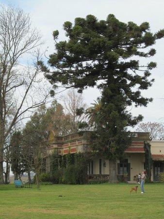 Estancia El Ombu de Areco: Vista de la casa principal desde los jardines