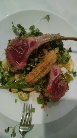 South & Vine Public House: Awesome Lamb Chops with Fresh Greens!