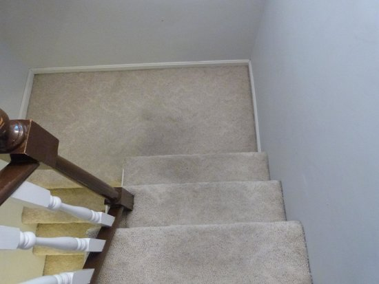1848 Island Manor House: Carpeting in stairwell outside bedroom