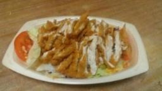 The Pottery Grill: Fried Chicken Salad (small)