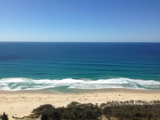 View from Peppers Broadbeach Tower 1 Ocean View apartment