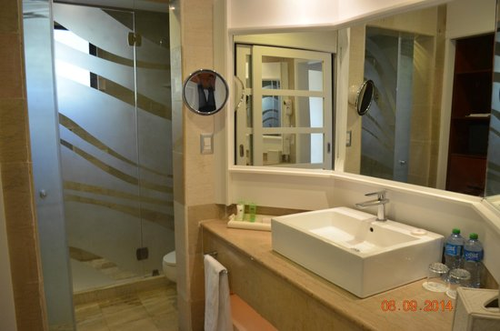 Paradisus Punta Cana Resort: Bathroom sink, Mirrors everywhere (nice touch)