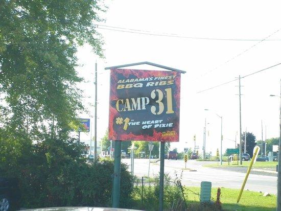 Camp 31 Bar-B-Q: outside sign