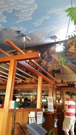 McMenamins West Linn Pub: Mural above bar