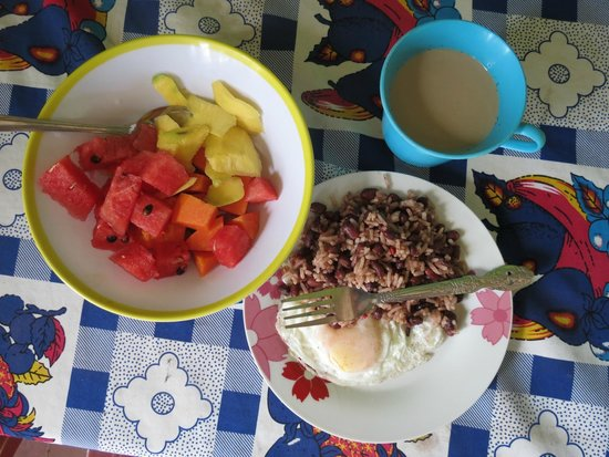 La Mariposa Spanish School and Eco Hotel: a common breakfast at our homestay