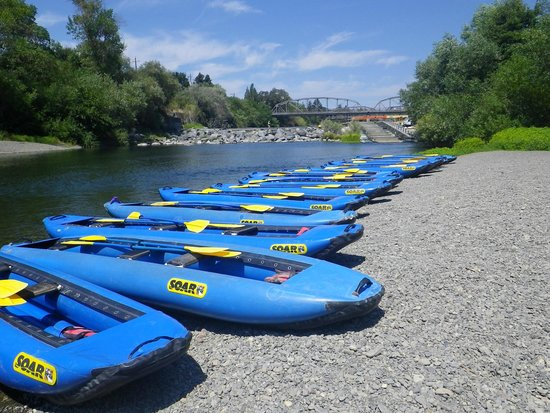 "Russian River Adventures (SOAR Inflatables): The ""put in"""
