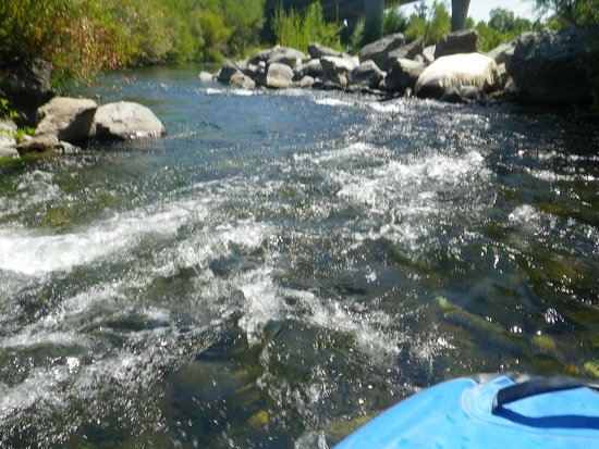 "Russian River Adventures (SOAR Inflatables): The only ""rapids"" on the paddle"
