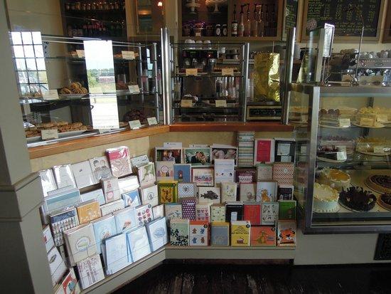 Pastiche Fine Desserts: Counter with some occasion card