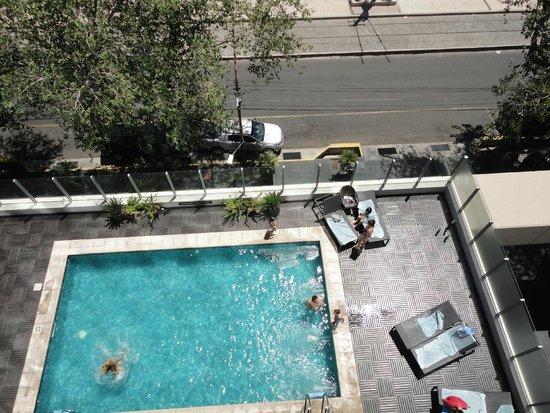 Diplomatic Hotel: Vista desde el cuarto piso