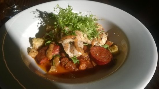 Rock Ferry Wines Restaurant: Hubbys Chicken