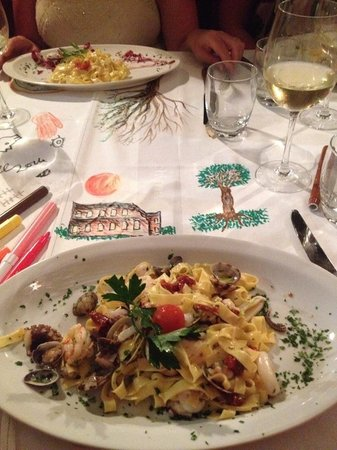 La Cucina del Garga: Art completion and outstanding seafood pasta.