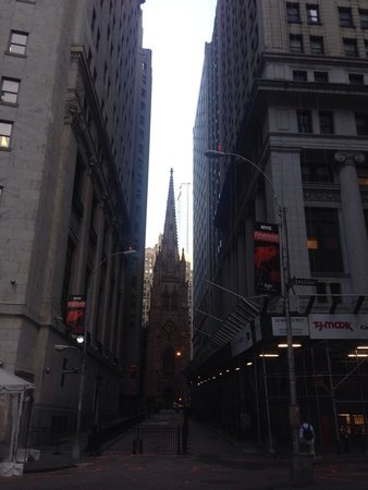 Trinity Church : The view from between two rather large buildings.
