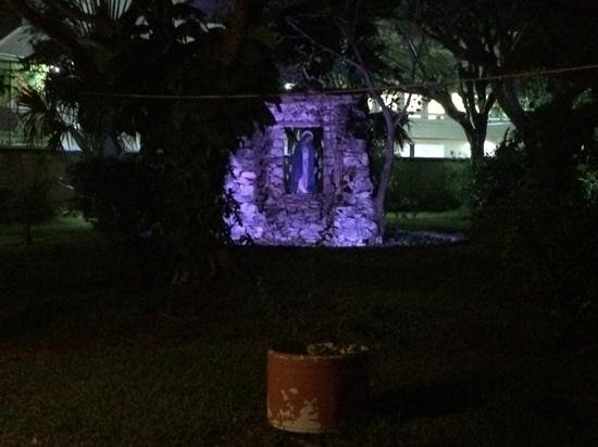 Casa Mission: beautiful grounds at night!