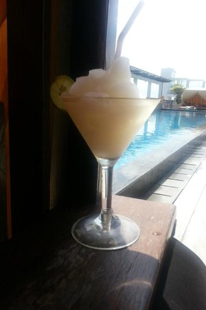 The ONE Legian: View from Cabana and Poolside Cocktails