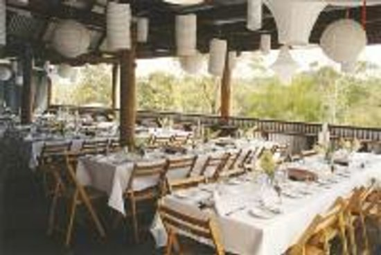 Megalong Valley Farm: Table setting for function in Cider Barn