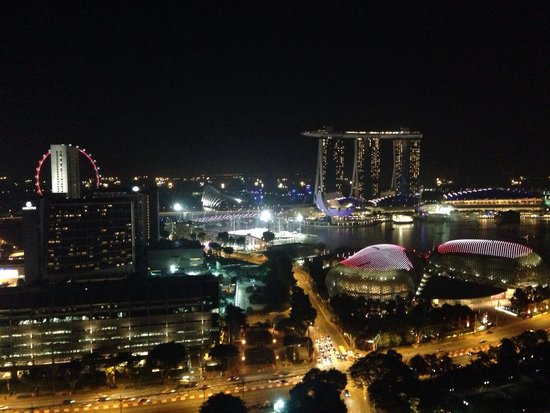 Swissotel The Stamford Singapore: Night view
