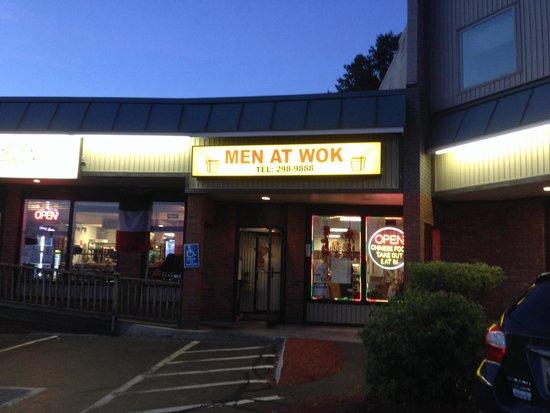 Men At Wok Restaurant : Outside the restaurant
