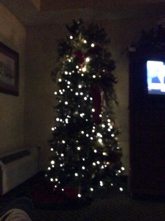 The Inn at Christmas Place: tree in our room