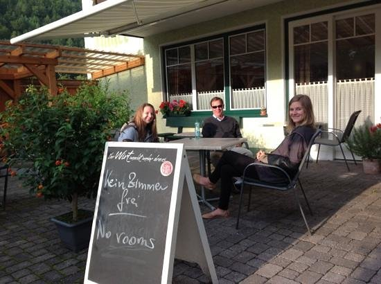 Gruner Anger : relaxing on the patio