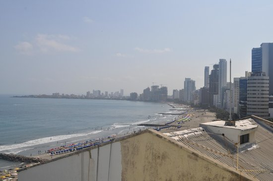 "Hotel Dann Cartagena : Balcony view from 14th floor room with ""city view"""