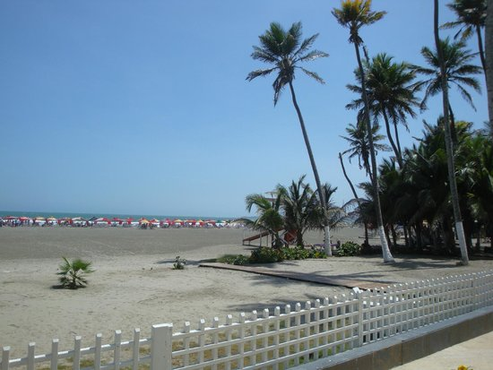 Hotel Dann Cartagena : view of beach from the pool