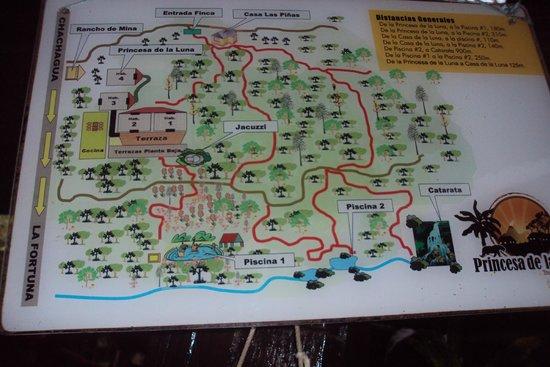Princesa de la Luna Eco Lodge: Map of Lodge