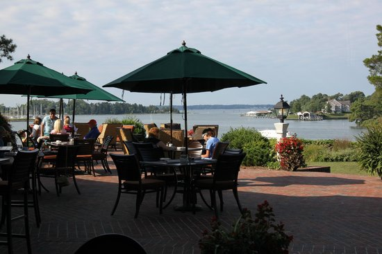 The Tides Inn: View during breakfast.