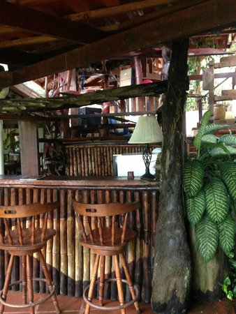Princesa de la Luna Eco Lodge: Fridge and bar area for guests to use