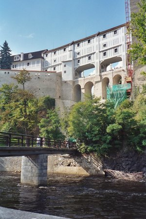 Historic Center of Cesky Krumlov: Upper Castle from the river