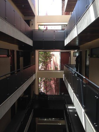 Las Suites: The hallway to reach our rooms