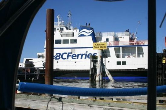 Heriot Bay Inn: BC Ferry from Quadra to Cortez Island